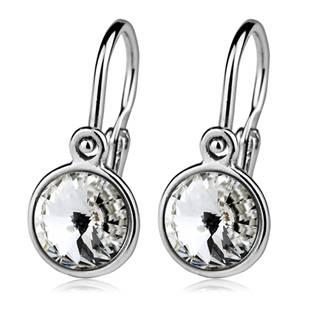 Dětské stříbrné náušnice, Crystals from SWAROVSKI®, barva: Crystal