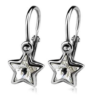 CS1060 Dětské stříbrné náušnice hvězdičky Crystals from SWAROVSKI®