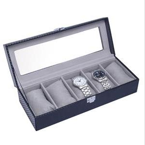 Šperkovnica na ukladanie hodiniek - imitácia karbónu