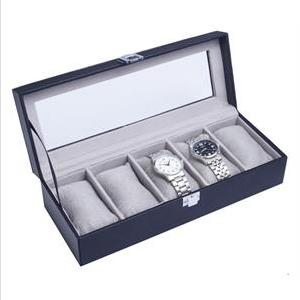 Šperkovnica na ukladanie hodiniek - čierna