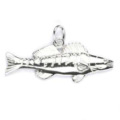 Strieborný prívesok ryba zubáč