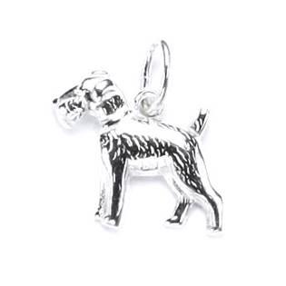 Stříbrný přívěšek pes teriér