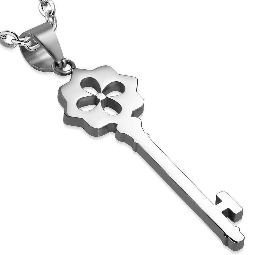 Oceľový prívesok - kľúč