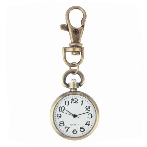 Retro kapesní hodinky s karabinou