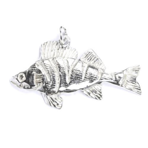 Strieborný prívesok ryba ostriež