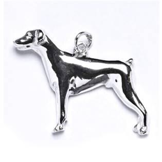 Stříbrný přívěšek pes dobrman