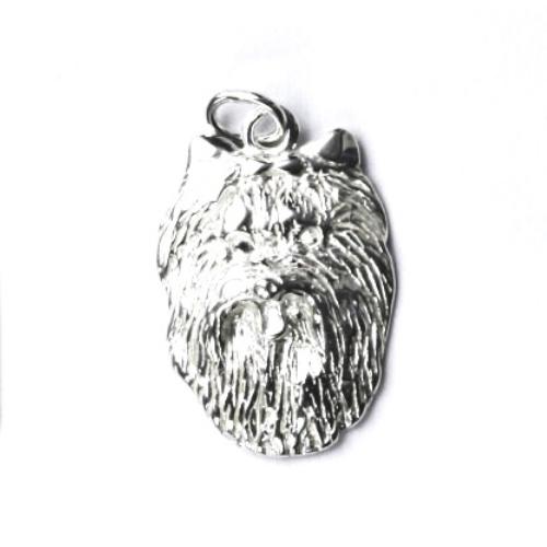 Strieborný prívesok hlava Yorkšír