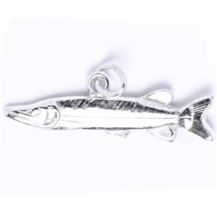 Stříbrný přívěšek ryba štika