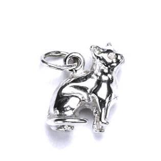 Šperky4U Stříbrný přívěšek sedící kočka - CS3126