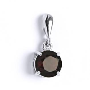 Stříbrný přívěšek s granátem