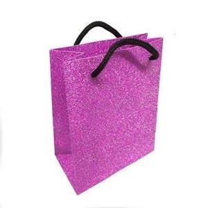 Malá darčeková taška striebristo ružová