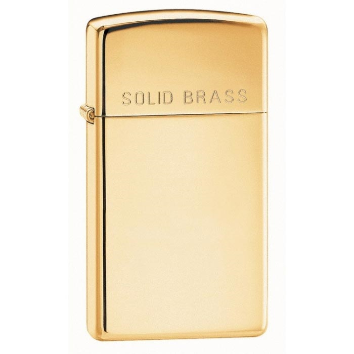 ZIPPO Solid brass Slim zapalovač 24067