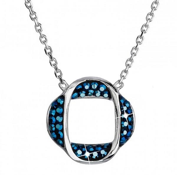 Strieborný náhrdelník s s kryštálmi Crystals from Swarovski ®