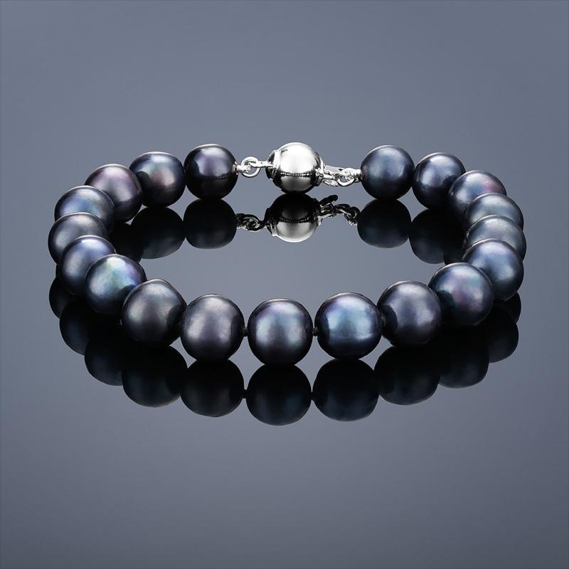 Perlový náramok Buka Mutiara - čierne perly