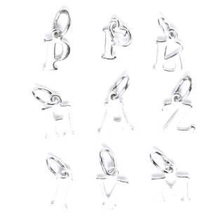 Stříbrný přívěšek písmeno - iniciála E