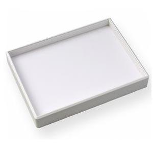 Rám pro plata řady PV - bílá koženka