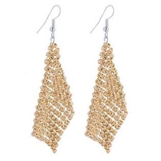 Šperky4U Zlacené visací náušnice - BX1024