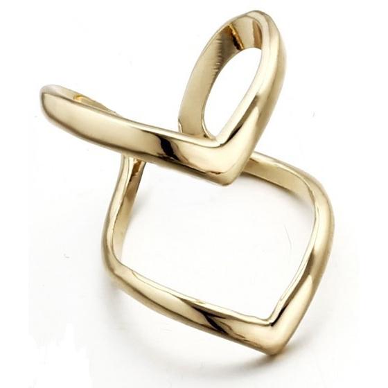 Dvojitý prsteň hroty - pozlátené