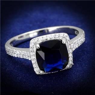 Stříbrný prsten se zirkony, vel. 52