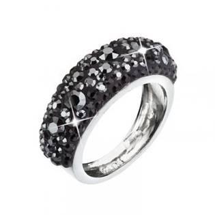 Stříbrný prsten s krystaly Crystals from Swarovski®, Hematite