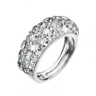 EVOLUTION GROUP CZ Stříbrný prsten s krystaly Crystals from Swarovski®, Crystal - velikost 52 - 35031.1