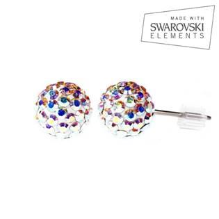 Titanové náušnice s krystaly Swarovski®, Crystal AB 6 mm LV3001