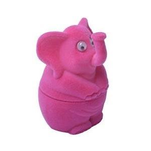 Darčeková krabička semiš - slon ružový
