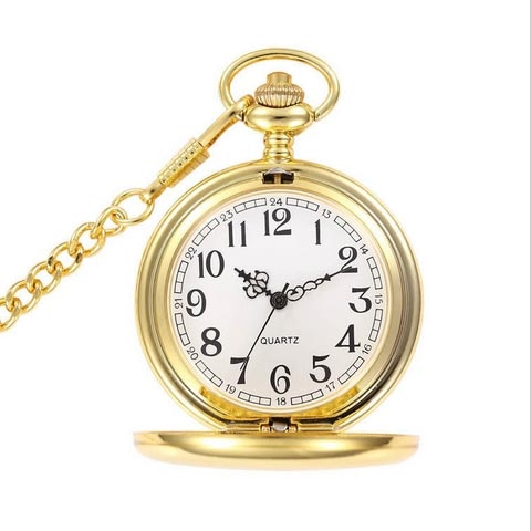 Vreckové hodinky otváracie pozlátené - cibule
