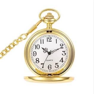 Šperky4U Kapesní hodinky otevírací zlacené - cibule - KH0005