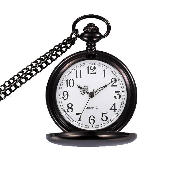 Vreckové hodinky otváracie - cibule čierne