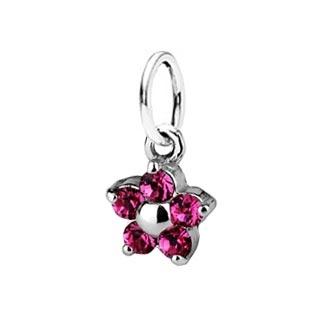 Detský prívesok kytička, Crystals from SWAROVSKI®, farba: Rose