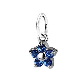 Detský prívesok kytička, Crystals from SWAROVSKI®, farba: Sapphire