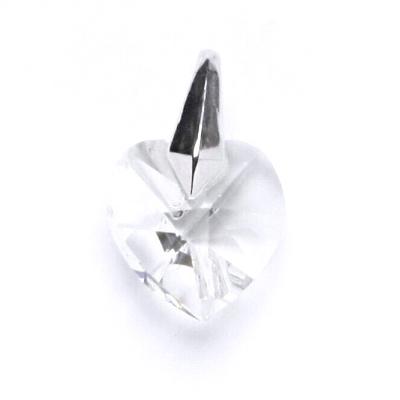 Stříbrný přívěšek srdíčko Crystals from SWAROVSKI®, barva: Crystal