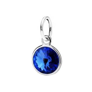 Stříbrný přívěšek s kamenem Crystals from SWAROVSKI®, barva: Sapphire