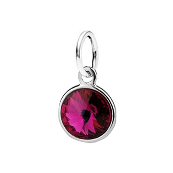 Stříbrný přívěšek s kamenem Crystals from SWAROVSKI®, barva: Fuchsia
