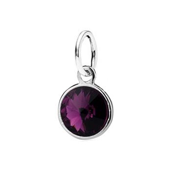 Stříbrný přívěšek s kamenem Crystals from SWAROVSKI®, barva: Amethyst