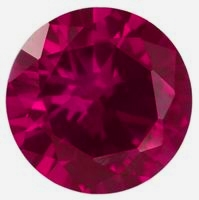 CZ Kubický zirkon - Dark Pink, pr. 2.50 mm