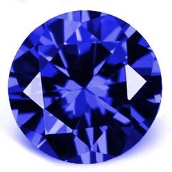 CZ Kubický zirkon - Dark Blue, pr. 2.50 mm
