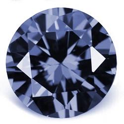 CZ kubický zirkon - light blue, pr. 2.00 mm