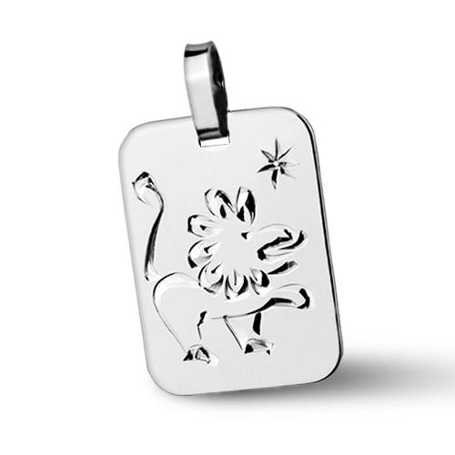 Stříbrný přívěšek znamení LEV