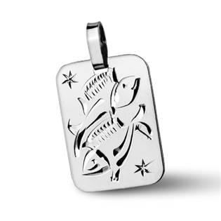 ZB511430-03 Stříbrný přívěšek znamení RYBY