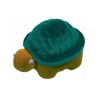 KR0191-GR Dárková krabička semiš - želva zelená/hnědá