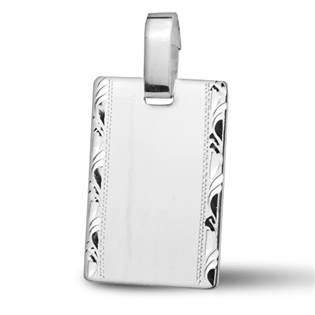 Stříbrný přívěšek - destička s ornamenty