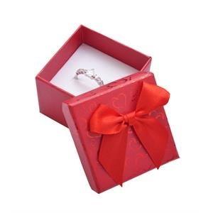 Darčeková krabička na prsteň - červená