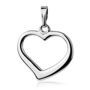 ZB51610 Stříbrný přívěšek srdce