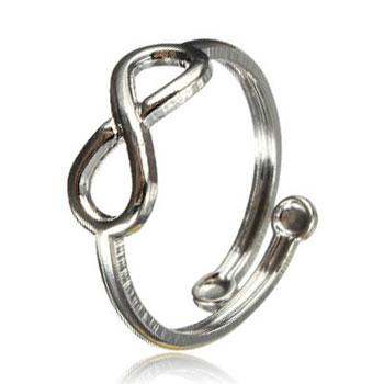 Postriebrený prsteň na nohu - infinity - nekonečno
