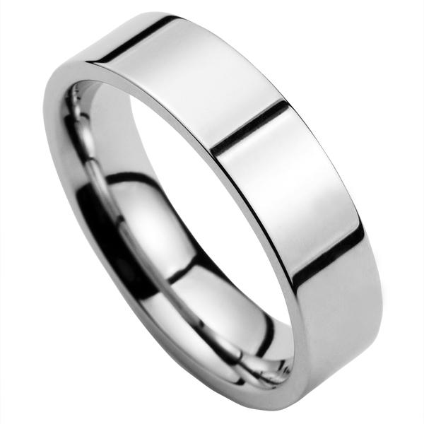 Oceľový prsteň lesklý, šírka 6 mm