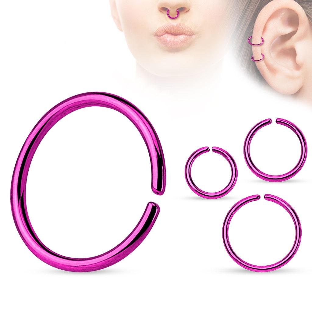 Piercing do nosa - kruh fialový