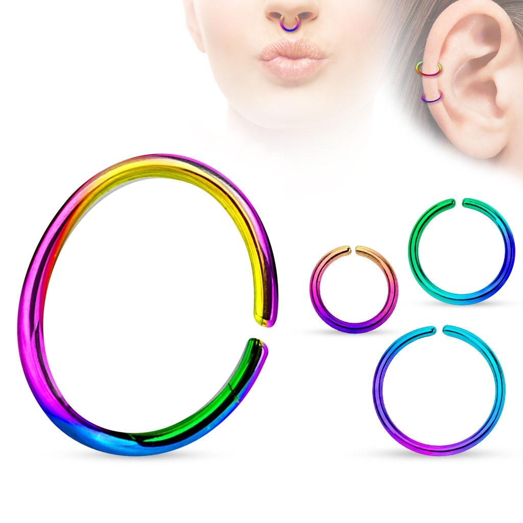 Piercing do nosa - kruh dúhový