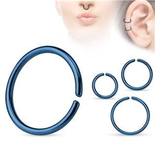 Piercing do nosu - kruh modrý